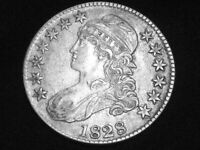 1828 Capped Bust Half Dollar --- Extra Fine +++