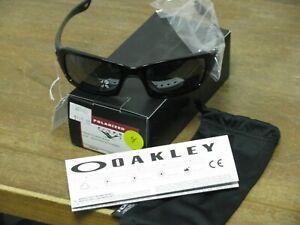 Oakley Fives Squared Polished Black/ Black Iridium Polarized Sunglasses NEW FS!!