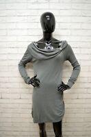 Vestito LIU-JO Donna Taglia Size S Abito Dress Tubino Woman Cotone Grigio Corto