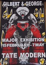 GILBERT & GEORGE Affiche signée poster handsigned Major Exhibition Tate Modern*