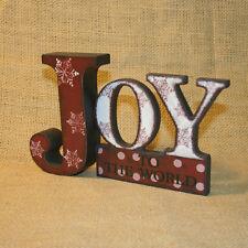 Joy To The World Word Blossom Bucket Wood Figurine Christmas Decoration