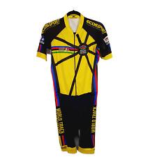 ECOS Sport Columbia Mens Short Sleeve Cycling Biking Suit Bib Padded Shorts L