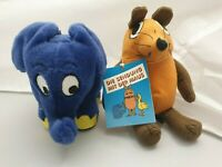 2x Vintage Plüsch-Figur - Maus & Elefant - Sendung mit der Maus - Schmidt WDR