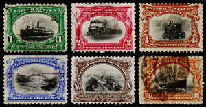 United States Scott 294-299 (1901) Used F Complete Set, CV $119.00 C