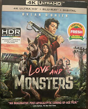 LOVE AND MONSTERS(4K ULTRA HD+BLU-RAY+DIGITAL)NO SLIPCOVER NEW FREE SHIPPING
