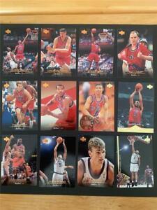 1995/96 Upper Deck Washington Bullets Team Set 12 Cards Rasheed Wallace RC