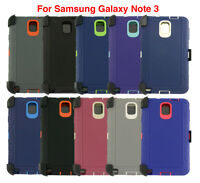 For Samsung Galaxy Note 3 Defender Case Cover Protector Fits Otterbox Belt Clip