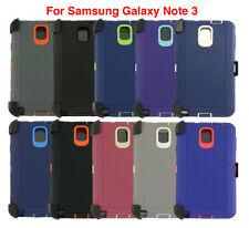 Para Samsung Galaxy Note 3 defender Caso Cubierta Protector se ajusta Otterbox Clip de cinturón
