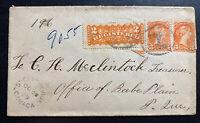 1889 Canada Vintage Registered Stamp Cover