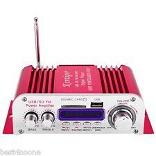 USB MMC FM Audio Car Stereo Amplifier Radio MP3 Speaker LED Hi-Fi 2 Channel