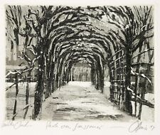 Potsdam-Sanssouci-nevada arbolada-christian heinze-aguafuerte 1994
