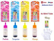 4x 60ml Color Tie Dye Kit Classic Super Max Vibrant Bright Colour NON-Toxic