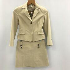 Karen Millen Jacket Skirt UK 8 Beige Women's Casual Buttoned Polyester 283593