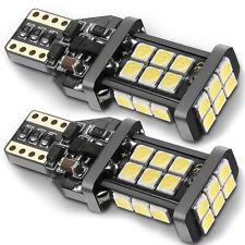 2 pcs Car Canbus W24W T15 24SMD 3030 1400 Lumens LED White Backup Reverse Light