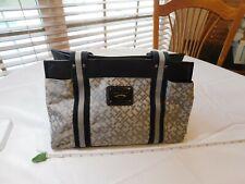 Tommy Hilfiger purse tote bag grey black TH 0755365 logo print classic womens