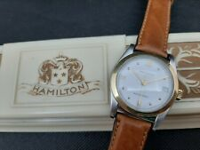 HAMILTON 7040 A2N vintage automatic swiss made watch 34mm gold 18k bezel eta2824