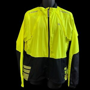 Pearl Izumi Vagabond Convertible Cycling Jacket To Vest Green Mens Size XL