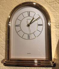 Vintage Linden Gold Brass/glass Mantel Clock