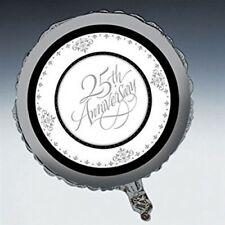 Stafford Silver 25th Anniversary Foil Balloon Anniversary Party Supplies Decor