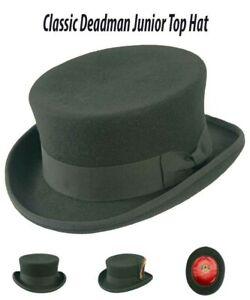 Unisex Deadman Top Hat 100% Wool felt dressage steampunk style -iHATS London(UK)
