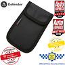 Car Key Signal Blocker Faraday Cage Fob Pouch Keyless RFID Blocking Bag Black UK