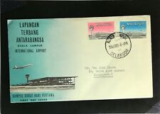 Malaysia 1965 Int. Airport FDC to Singapore - Z2244