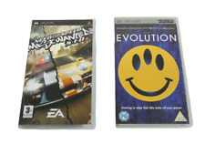 Playstation Portable PSP Need for Speed Game and Evolution Movie Set