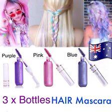 3 X Bottles Hair Mascara Vibrant Temporary Liquid Hair Colour Set Unisex NEW