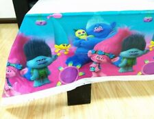 TROLLS TABLE CLOTH COVER TABLECLOTH POPPY BIRTHDAY PARTY LOLLY LOOT DECORATION