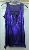 Next Purple Sequin Top Size 8