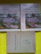 Il Mio Tema Epico (Voll. 1-2) + Temi Critici Manzoniani, di R. Persi - Saggi