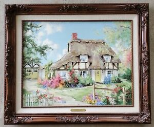 """Marty Bell """"BLOSSOM LANE"""" Signed Limited Edition Collector's Society Canvas 1992"""