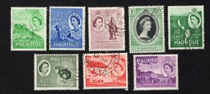 Mauritius 1953-54 8 stamps used