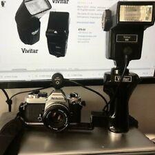 New listing Vivitar 283 flash w/ Vivitar Pg-1 Flash Holder Pistol Grip Bracket