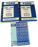 LOT FORD 3000 4000 SERIES TRACTOR SERVICE REPAIR SHOP & OPERATORS OWNERS MANUALS