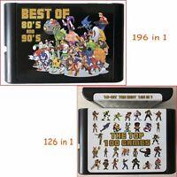 Carte jeu /Cartouche 126 en 1 et 196 en 1 Carte jeu 16 bits MD pour Sega Genesis