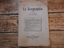 LA GEOGRAPHIE - GRANDIDIER / 1923 N°3 PECHE COTE IVOIRE TEOTIHUACAN DE FLEUREY