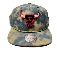 Chicago Bulls Hat Snapback Mitchell And Ness NBA Basketball Cap Rare NWT Tiedye