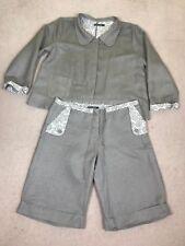 Women's 2 Pieces Suit by GUDRUN SJODEN Sjödén Jacket & Short 45 % Linen Size XL