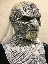 WHITE Ice Zombie Walker Maschera Halloween in Lattice Costume