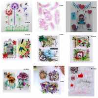 HOTVarious Silicone Clear Stamp Transparent Rubber Stamps DIY Scrapbooking Craft