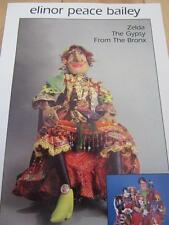 ELINOR PEACE BAILEY SOFT DOLL SEWING PATTERN ZELDA THE GYPSY FROM THE BRONX