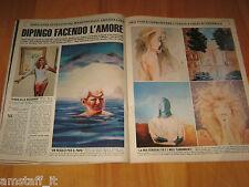 OGGI 1983/16=AMANDA LEAR SERGIO LEONE FILM =CLIPPING RITAGLIO PHOTO FOTO=