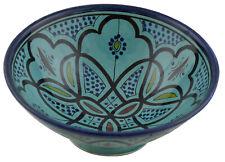 Moroccan Ceramic Plate Bowl Pottery Spanish Salad Pasta Soup Fruit  Rice