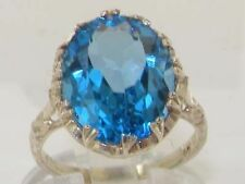 Topaz Solitaire Natural Sterling Silver Fine Rings