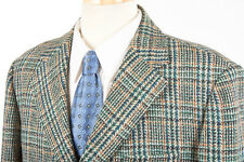69cbc9197f9 Vintage Mens HARRIS TWEED Sport Coat 42 R in Green Blue Gold Plaid x  Alexandre