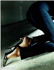 PUBLICITE ADVERTISING 115  1997  GUCCI   collection chaussures escarpins