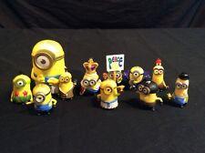 """Lot 10 Despicable Me Mini Minions 1-3"""" Toy Figures & 1 PVC King Bob Kevin EUC"""