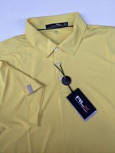 NWT RLX Ralph Lauren - The Biltmore Yellow Golf Shirt UPF 40+ XL