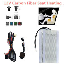 1Seat Universal Carbon Fiber 12V Car Seat Heater 3 File Switch Heating Pad Cover